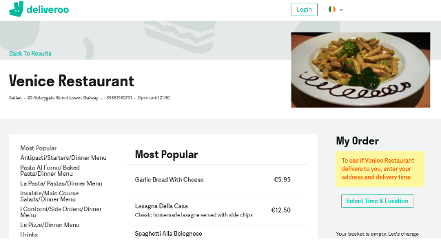 Venice Restaurant, Galway | ADDRESS: 11 Lower Abbeygate St, Galway